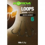 KORDA Loop Rigs Krank 6-os Barbless 18lb 3 db
