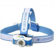 Led Lenser MH7 outdoor tölthető LED fejlámpa - kék