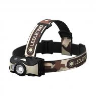 Led Lenser MH8 outdoor tölthető LED fejlámpa - terepmintás