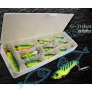 Lurefans Rattlesnake Fire Tiger csomag 10db+doboz