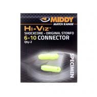 MIDDY Hi-Viz külső PTFE connector 6-10 sárga