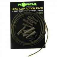 KORDA Lead Clip Action Pack - Weed 5db