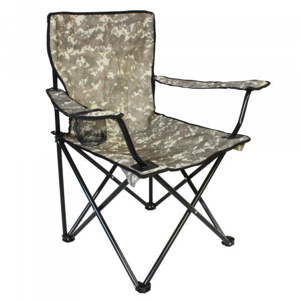NEVIS Camou Kemping szék pohártartóval