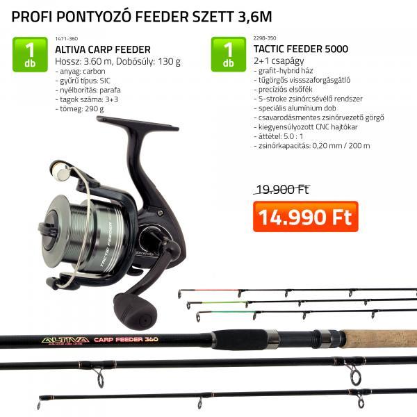 NEVIS Profi Pontyozó feeder szett 3,60m feeder bottal KB-474