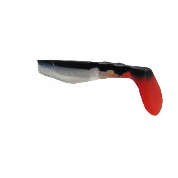 NEVIS Vibra Shad Gumihal 5cm - Fekete-ezüst-piros-fehér