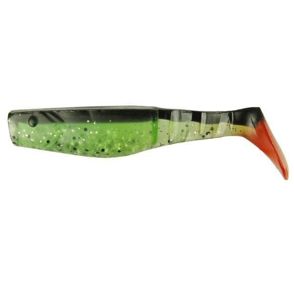 NEVIS Vantage gumihal -  10cm / zöld-fekete-piros