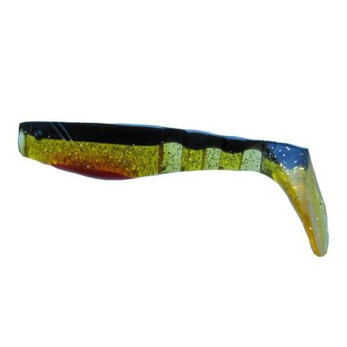 NEVIS Vibra Shad Gumihal -  7cm zöld-fekete