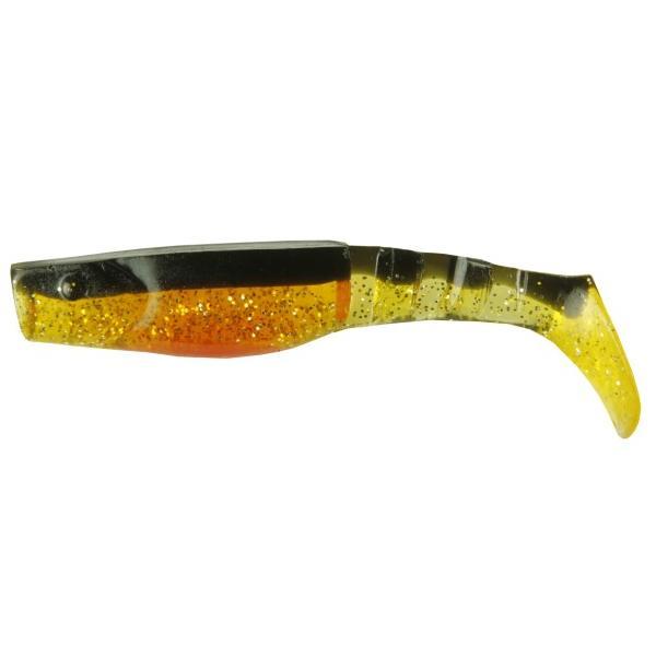 NEVIS Vibra shad gumihal - 8cm / narancs-fekete
