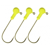 NEVIS Twister fej sárga - 4/0 - 5gr