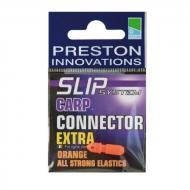 PRESTON Carp Extra Connector szerelék rögzítő kapocs - narancs