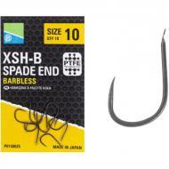 PRESTON XSH-B szakáll nélküli lapkás horog 10-es