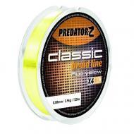 Predator-Z Classik fonott zsinór fluo sárga 0,16mm