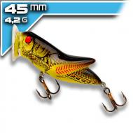 REBEL Crickhopper popper- Yellow/Black Back 4,5cm/4,2g
