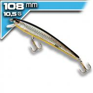 REBEL Tracdown Ghost Minnow - Black Back/Orange Belly - 11cm/10,5g