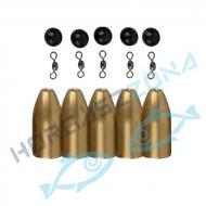 SAVAGE GEAR Brass Bullet Kit's -  10gr/5db bullet ólom készlet (55155)