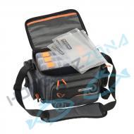 SAVAGE GEAR System Box Bag M 3 boxes & PP Bags  pergető táska dobozokkal (43836)