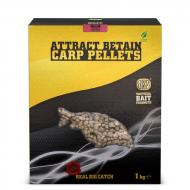 SBS Attract Betain Carp Pellets 6mm - Tintahal-polip és eperkrém 1kg
