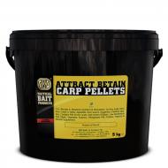 SBS Attract Betain Carp Pellets 6mm - Tintahal-polip és eperkrém 5kg