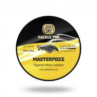 SBS Masterpiece Tapered Mono Leaders dobóelőtét zsinór 5x15m 0,26-0,58mm