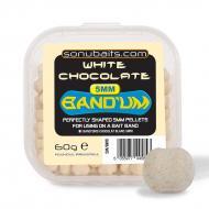 SONUBAITS Mini Bandum süllyedő csalizó pellet 5 mm - Fehér csoki