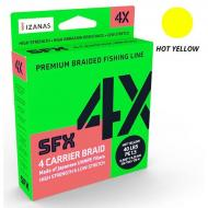 SUFIX SFX 4 Hot Yellow 0,185mm/135m - pergető fonott