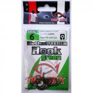 TOP MIX Method Feeder Horog 6-os - zöld/green
