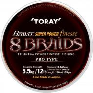 TORAY Bawo Super Power Finesse 8 Braid 0,185mm/150m - mocsár zöld