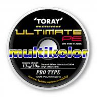 TORAY Ultimate PE 4x 0,165mm/100m - Multicolor