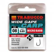TRABUCCO Wide Gape Carp mikro szakállas horog 8-as