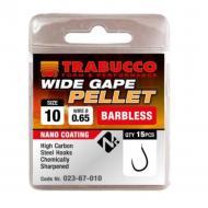 TRABUCCO Wide Gape Pellet szakáll nélküli horog 10-es