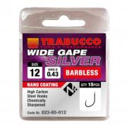 TRABUCCO Wide Gape Silver szakáll nélküli horog 12-es