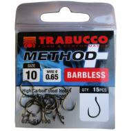 TRABUCCO Method plusz (15db) feeder horog 12-es szakáll nélküli