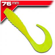 YUM Ribbontail Grub -Chartreuse 7,6cm / 15db aromásított twister