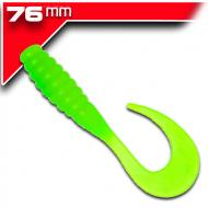 YUM Ribbontail Grub -Lime/Chartreuse 7,6cm / 15db aromásított twister