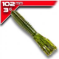 YUM Vibra King Tube - Green Pumpkin 10cm/8db aromásított gumicsali