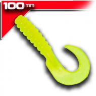 YUM Walleye Grub 10cm Chartreuse 12db
