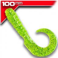 YUM Walleye Grub 10cm Chartreuse Silver Flake 12db