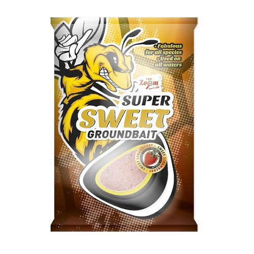 Super Sweet groundbait 1kg sweet strawberry (édes eper)