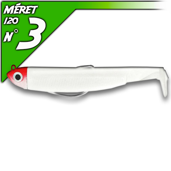 Black Minnow 120 Blanc - Shore-fej 12g/12cm