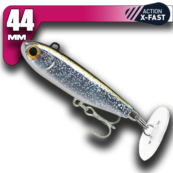 Power Tail - Silver Glitter - X-Fast Action 44mm/18g