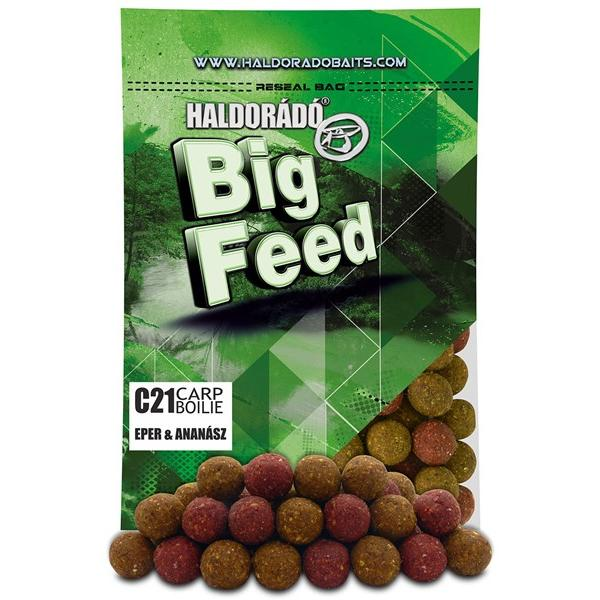 Big Feed - C21 Boilie - Eper & Ananász 800 g