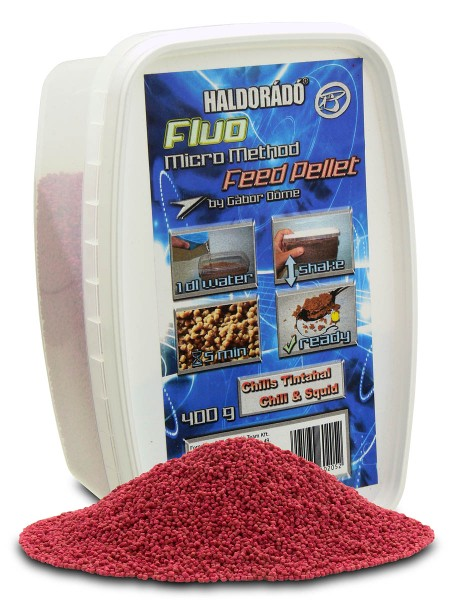 Fluo micro method feed pellet - Chili- tintahal 400gr