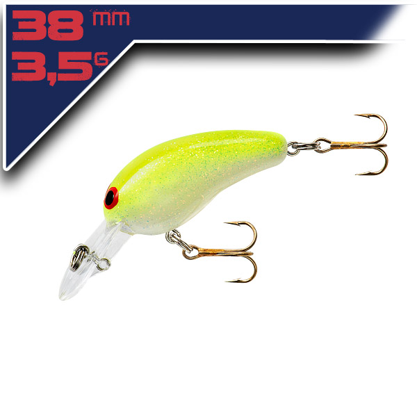 Deep Tiny N-GC – White/Chartreuse 3,8cm/3,5g wobbler