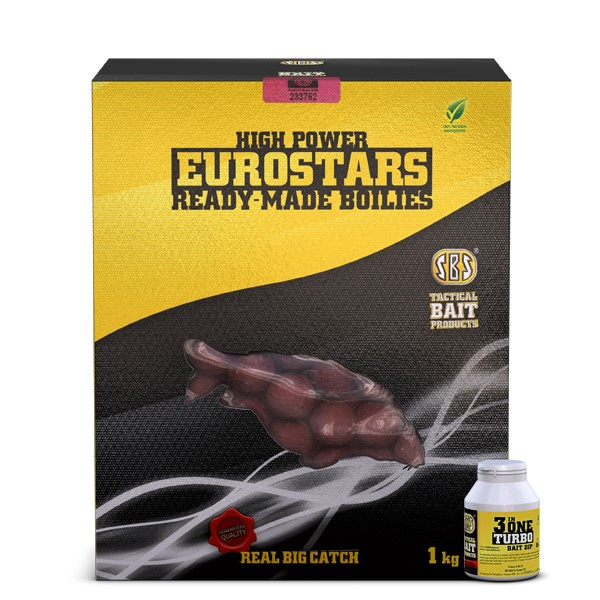 Eurostar Ready-Made Bojli 20mm + 50ml 3in1 Turbo Bait Dip - Fish&Liver