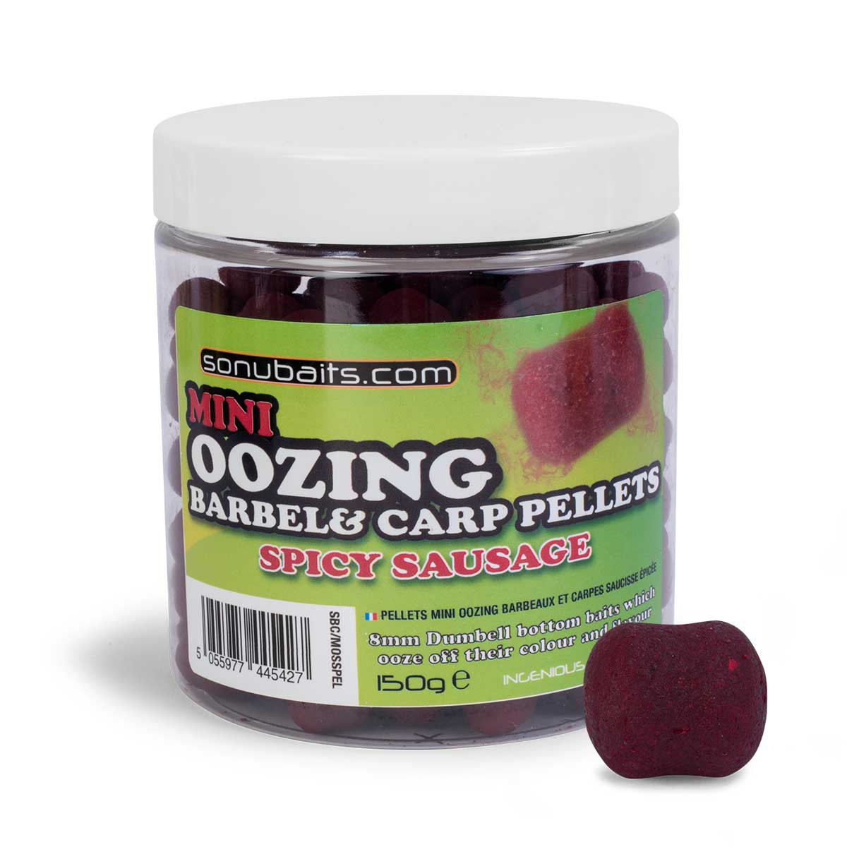 Mini Oozing Barbel  Carp Pellets - Spicy Sausage