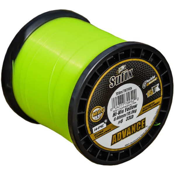 ADVANCE Hyper CoPolymer 1000m/0,25mm Hi Vis Yellow