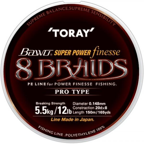 Bawo Super Power Finesse 8 Braid 0,205mm/150m - mocsár zöld