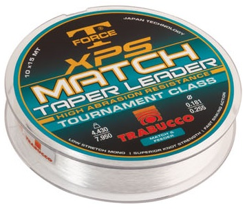 T-Force XPS MATCH TAPER LEADER 0,16/0,22mm távdobó előke