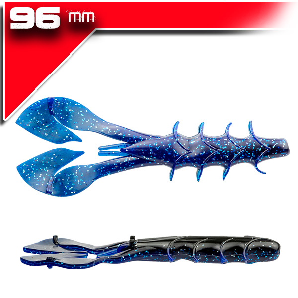 Spine Craw 9,6cm/8db Black Blue Shadow